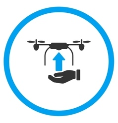 Hand Launch Airdrone Icon vector image vector image