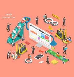 lead generation flat isometric concept vector image