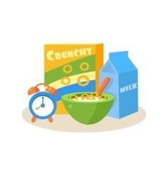 Pupil Breakfast Education Design vector image