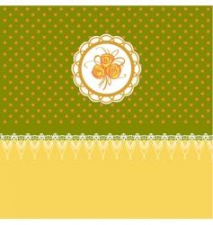 retro floral design vector image vector image