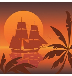 sunset vector image vector image