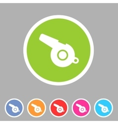 whistle blower sport football app icon flat web vector image vector image