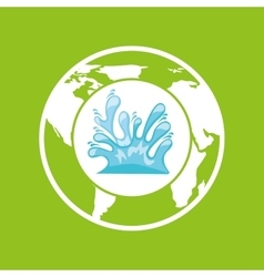 environment care globe water icon graphic vector image vector image