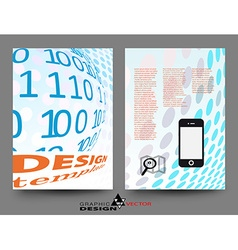 Flyer design template in A4 vector image vector image