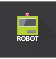 green robot head logo design vector image