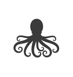 octopus silhouette vector image vector image