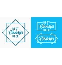Oktoberfest vintage logo set design background vector image vector image