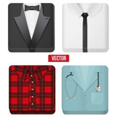 Premium Icons white shirt tuxedo doctor and vector image