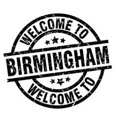 welcome to birmingham black stamp vector image