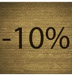 10 percent discount icon symbol Flat modern web vector image