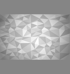 Abstract background of different triangles grey vector