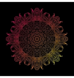 Abstract Hand-drawn Mandala-07 vector image