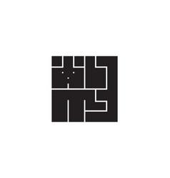 abstract logo dog pet animal design element vector image
