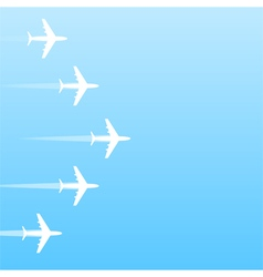 Air transport gradient background vector