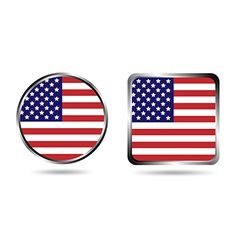 american flag buttons isolated on white vector image