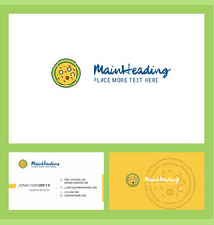 Bacteria on plate logo design with tagline front vector