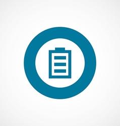 Battery bold blue border circle icon vector
