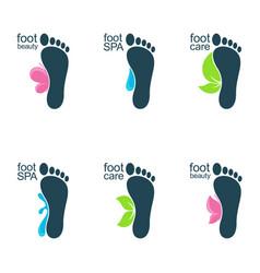 Beautiful feet vector