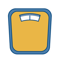 body weight scale icon vector image