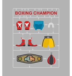 Boxing champion Plastic model kits vector image