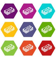 Bundle note icons set 9 vector