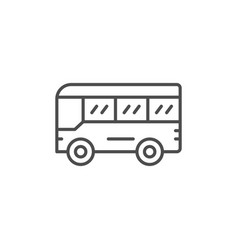 Bus line icon vector