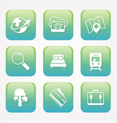buttons icon travel vector image