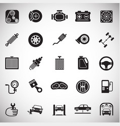 Car parts and repair set on white background for vector