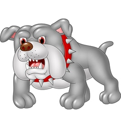 Cartoon angry bulldog isolated on white background vector image