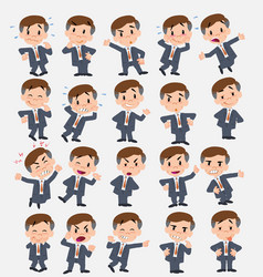Cartoon character businessman set with different vector