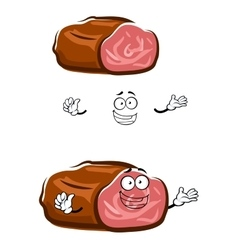 Cartoon isolated roast beef character vector