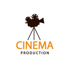 cinema logo emblem template vector image