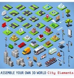 City 01 COMPLETE Set Isometric vector