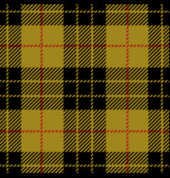 Clan macleod scottish tartan plaid seamless patter vector