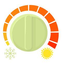 Cold heat regulator icon cartoon style vector