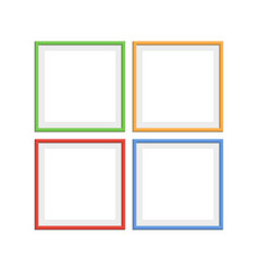 colorful wooden frames vector image