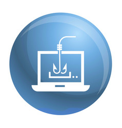 Computer phishing icon simple style vector