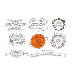 cooking badges collection vector image