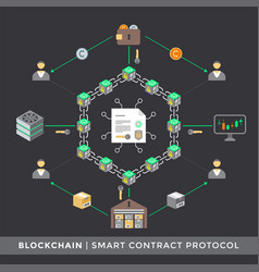 Cryptocurrency blockchain technology concept vector