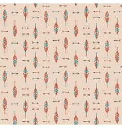 Cute geometric seamless pattern in cartoon style vector