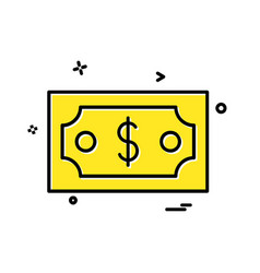 dollar icon design vector image