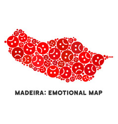 Dolor portugal madeira island map vector
