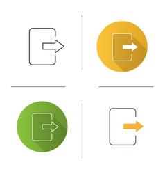 Exit button icon vector