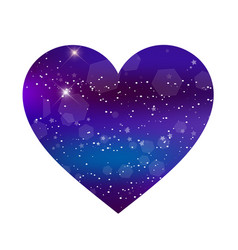 fantastic galaxy heart isolated on white vector image
