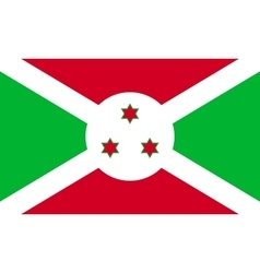 Flag of Burundi in correct proportions and colors vector