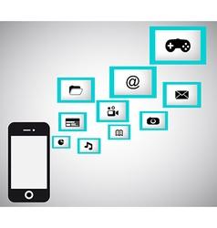 Flat design mobillf kopie vector