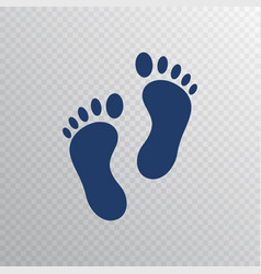 Foot print icon in flat style foot step isolated vector