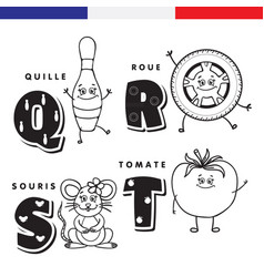 french alphabet skittles wheel mouse tomato vector image