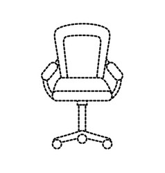 furniture armchair office wheel equipment vector image