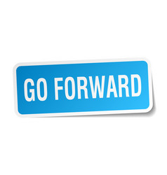 Go forward square sticker on white vector